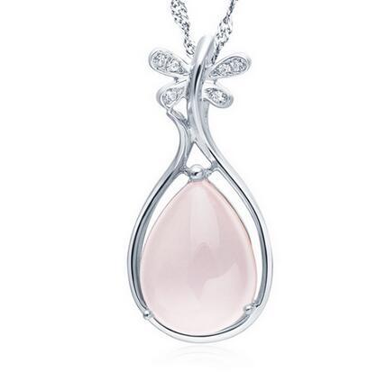 font b Luxury b font Girls Lady s gem Silver font b Jewelry b font