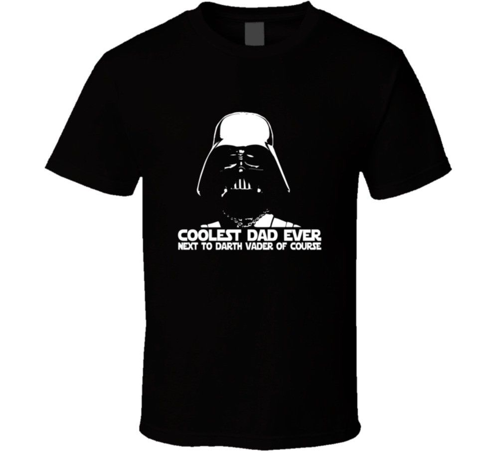 Darth Vader Coolest Dad Ever Funny Fathers Day Star Wars Movie T Shirt Hot New 2018 Summer Fashion T Shirts