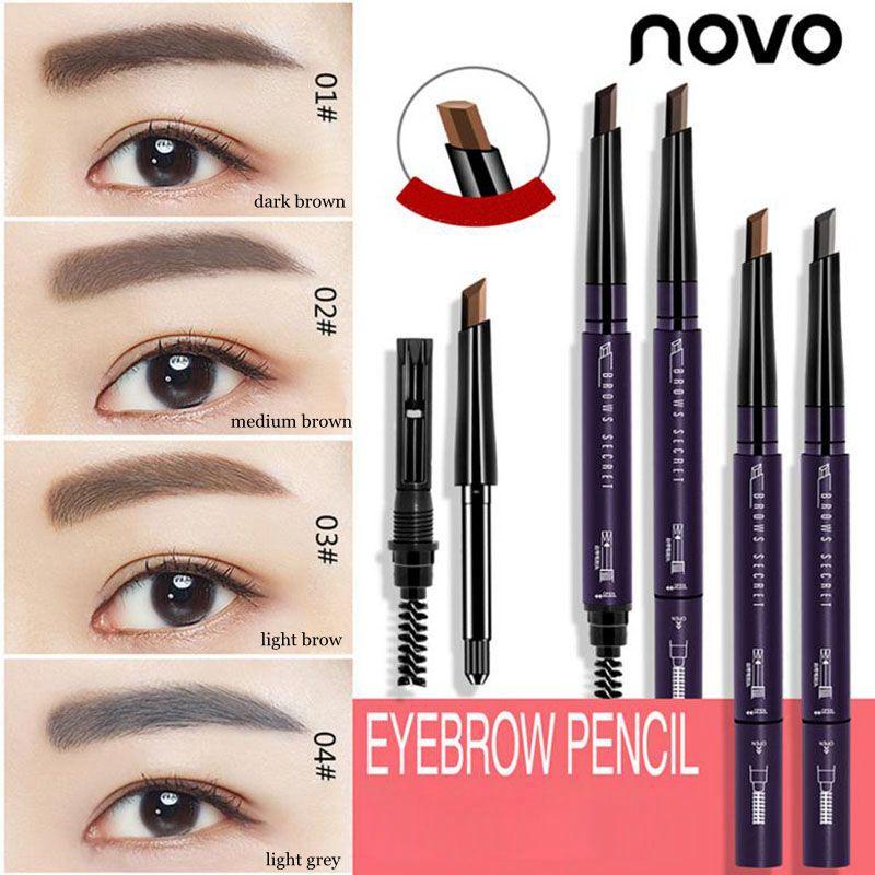 Novo Permanent Medium Brown Makeup Eyebrow Automatic Waterproof