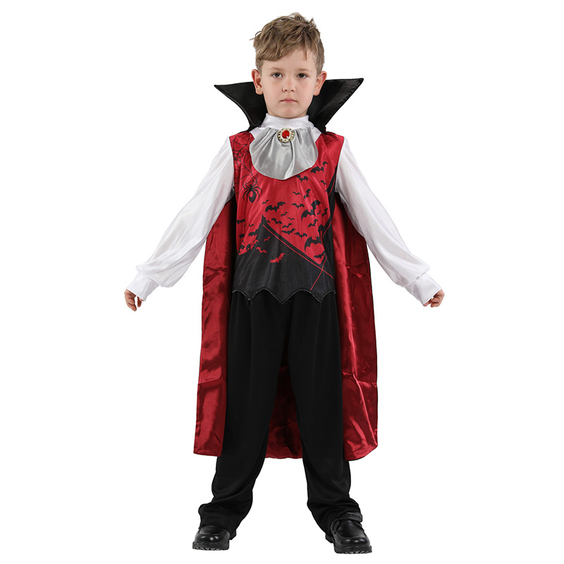 HUIHONSHE Halloween Cosplay Male Vampire Deluxe Costumes Kids Men's With Gothic High Quality Roleplay Vampire Fancy Costumes Boy