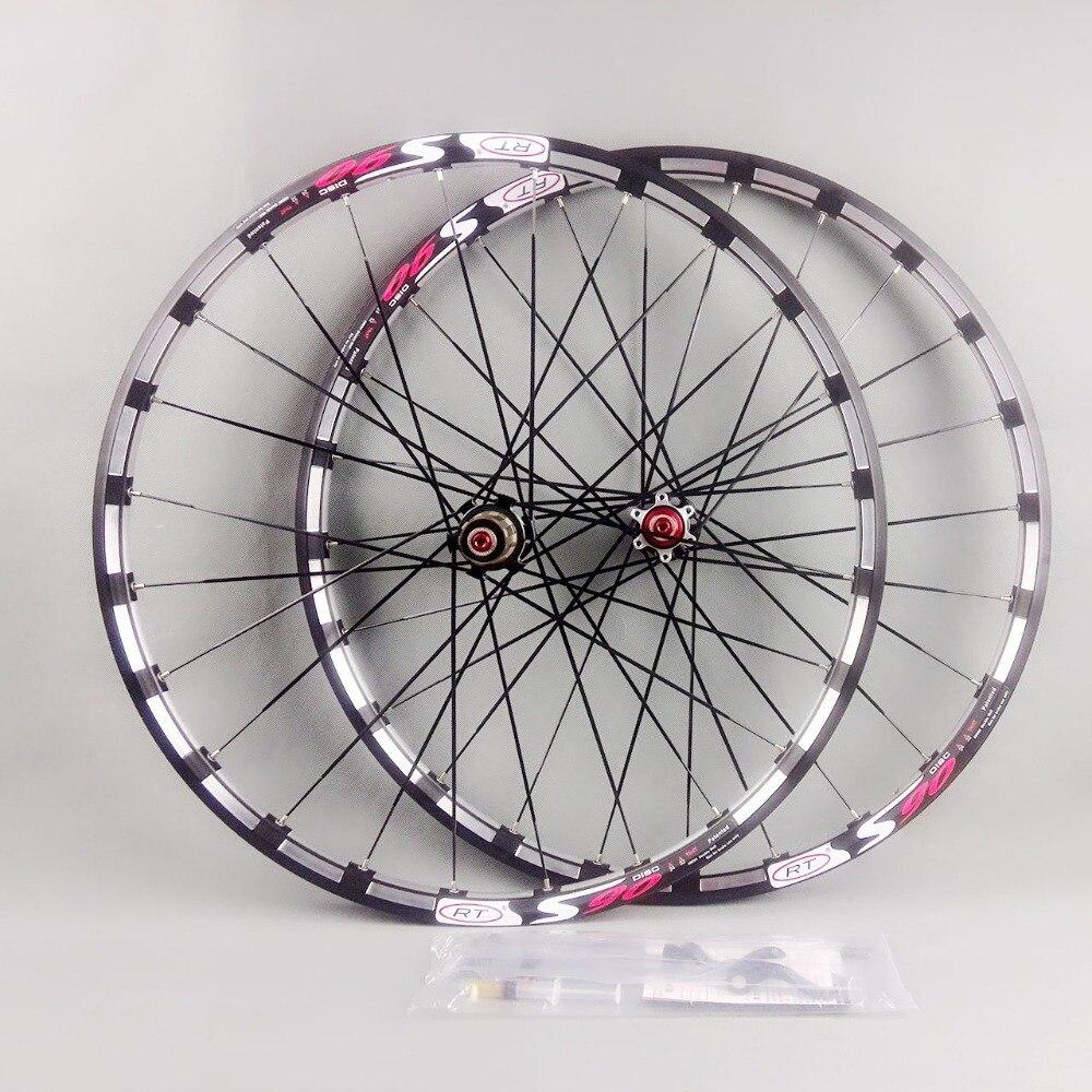 2017 plus récent vélo de montagne vélo Fraisage trilatérale RT avant 2 arrière 5 portant le japon moyeu super lisse roue roues Jante gratuit