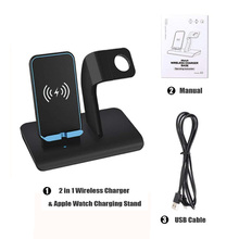 Qi Fast Wireless Charger Dock Stand for iPhone X XS XR 8 Plus Samsung S9 S8 USB Charging Holder For Apple Watch 4 3 2 1