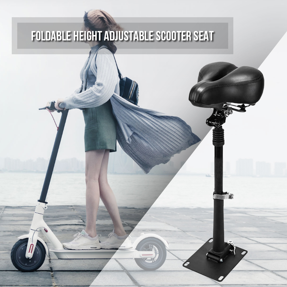 Electric Skateboard Saddle for Xiaomi Mijia M365 Scooter Foldable Height Adjustable Shock Absorbing Folding Seat Chair-in Bicycle Saddle from Sports & Entertainment    1