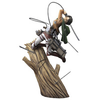 Attack on Titan Levi Rivaille action model anime figures toys kids Decoration 1/8 scale figure gift painted