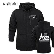 2018 New  hoodie MARVEL AVENGERS INFINITY WAR winter jacket Marvel Hoodie Miracle zipper A hoodie jacket