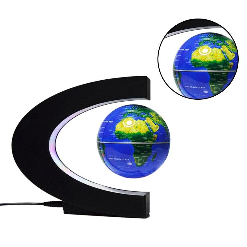 Levitação magnética terra c-tipo led flutuante luz