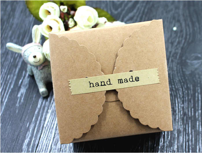Tangan Membuat Scrapbooking Kraft Kertas Label Amplop Kemasan Segel Stiker DIY untuk Kue Kotak Pembungkus Dekorasi Kue 20 Pcs/ lembar