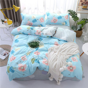 Image 5 - 4PCS Duvet Cover Set Fashion Family Bedding Sets Luxury Flat Sheet Bedding Linings Pillowcase Cover Sets, No Filler 2019 Bed Set