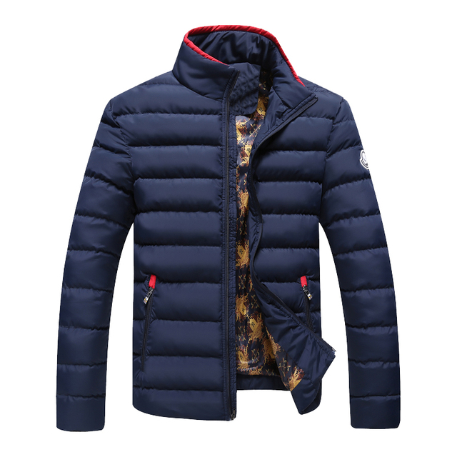 Winter Jacket Men 2016 Brand Parka Man Clothing Stand Collar Zipper Thick Quilted Jackets Coat Drop Shipping