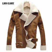 Chaqueta de marca de Otoño Invierno para Hombre Veste Homme gruesa de terciopelo para Hombre Abrigo de invierno de piel sintética Chaqueta Hombre cazadora Abrigo Hombre