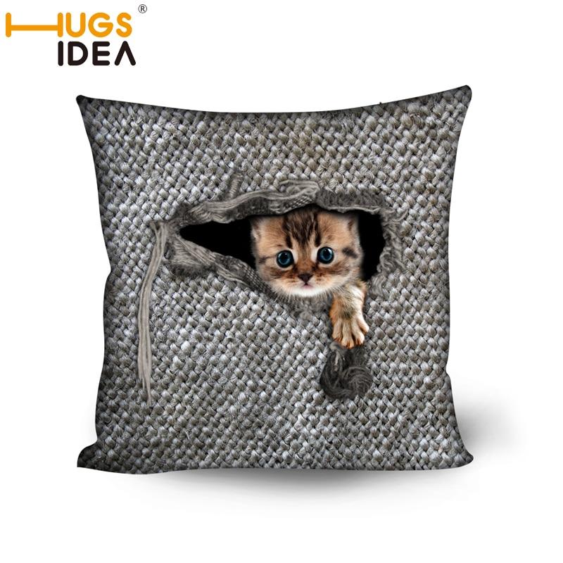 HUGSIDEA 45 * 45CM bavlněná směsová polštářová pokrývka - Bytový textil