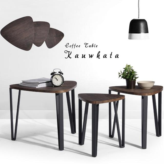 Aingoo Coffee Table Set of 3 End Side Table Stacking Tea Table Brown Modern Leisure Wood  sc 1 st  AliExpress.com & Aingoo Coffee Table Set of 3 End Side Table Stacking Tea Table Brown ...