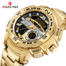 цена на MIZUMS Luxury Men's LED Digital Quartz Watch Men Army Military Sport Watches Male Waterproof Date Wristwatch Relogio Masculino