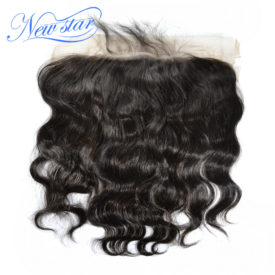 New Star Lace Frontal 13x6 Free Part Brazilian Body Wave Closures Virgin Human Hair Pre Plucked With Baby Hair Bleached Knots-in Closures from Hair Extensions & Wigs    1
