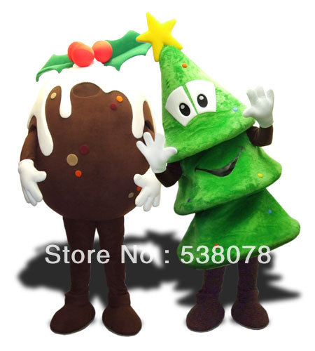 Christmas Pudding Outfit.Us 249 0 1pc High Quality Christmas Tree Pudding Mascot Costume Xmas Holiday Adult Size Cartoon Character Mascotte Outfit Suit In Mascot From