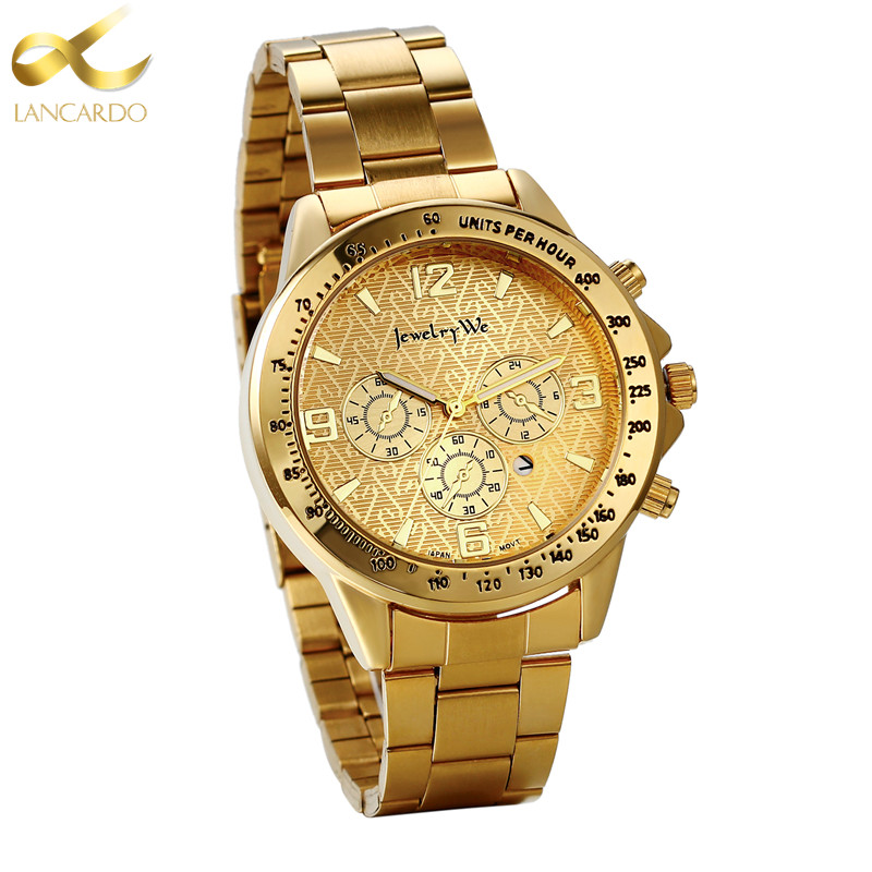 Lancardo 2017 New Men Watch Top Brand Luxury Calendar Dial Military Gold Watches Clock Male Erkek Kol Saati Relogios kkk turbo bv43 53039880144 53039880122 chra turbine 28200 4a470 turbocharger core cartridge for kia sorento 2 5 crdi d4cb 170 hp