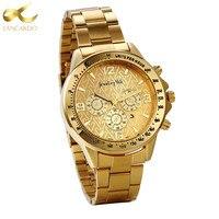 Lancardo 2017 New Men Watch Top Brand Luxury Calendar Dial Military Gold Watches Clock Male Erkek