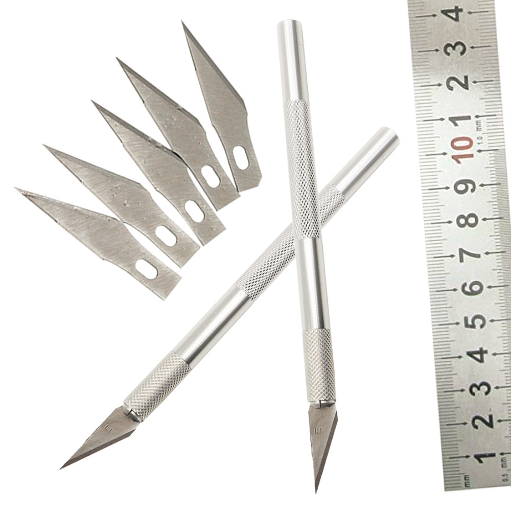 multitool blades NEW Non-Slip Metal Scalpel Knife Tools Kit Cutter Engraving Craft Knives + 6pcs Blades Mobile Phone PCB DIY unleashed
