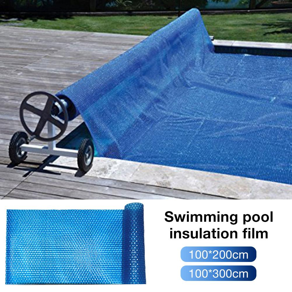 Solar Swimming Pool Cover Easy Set Dustproof Cover Blue