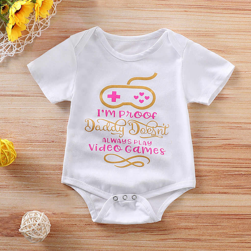 Newborn Infant Outfits Newborn Infant Baby Girl Boy Short Sleeve Letter Romper Clothes Outfits Summer Infant Girl Boy Jumpers Kids Baby Outfits Clothes