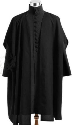 Professor Severus Snape Cosplay Cloak Black Robe Hogwarts School Deathly Hallows