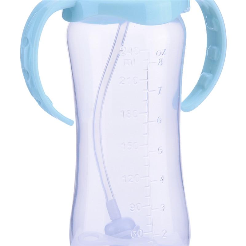 240ml Sød Babyflaske Spædbarn Nyfødte Børn Lær Foder - Fodring et barn - Foto 5