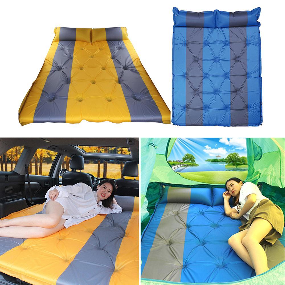 Lit de voyage de Camping en plein Air tapis étanche à l'humidité SUV voiture auto conduite Tours matelas gonflable siège tapis gonflable avec pompe à Air - 6