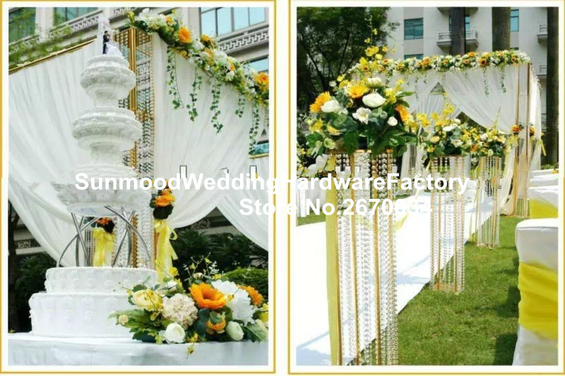 Gold iron road leading flower stand column indian wedding mandap gold iron road leading flower stand column indian wedding mandap designs for wedding decorations in glow party supplies from home garden on aliexpress junglespirit Image collections