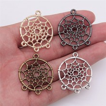 WYSIWYG 10pcs 28x34mm Metal Alloy Dream Catcher Connector For Diy Jewelry Dream Catcher Pendant Charms Diy Making