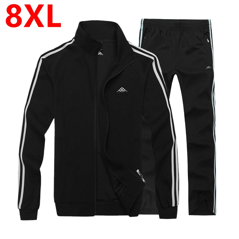 Large size sportswear thin add fertilizer increased male suit sweater Men s Big size Men s