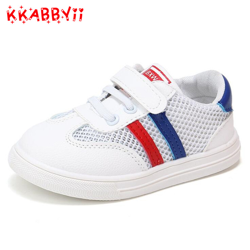 New Summer Children Shoes Air Mesh Boys Girls Sandals Breathable Cut-outs Kids Sports Sneakers Unisex Fashion Shoes EU 21-30