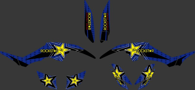 New Style DECALS STICKERS Graphics Kits FIT for Yamaha RAPTOR 350 ATV YFM350