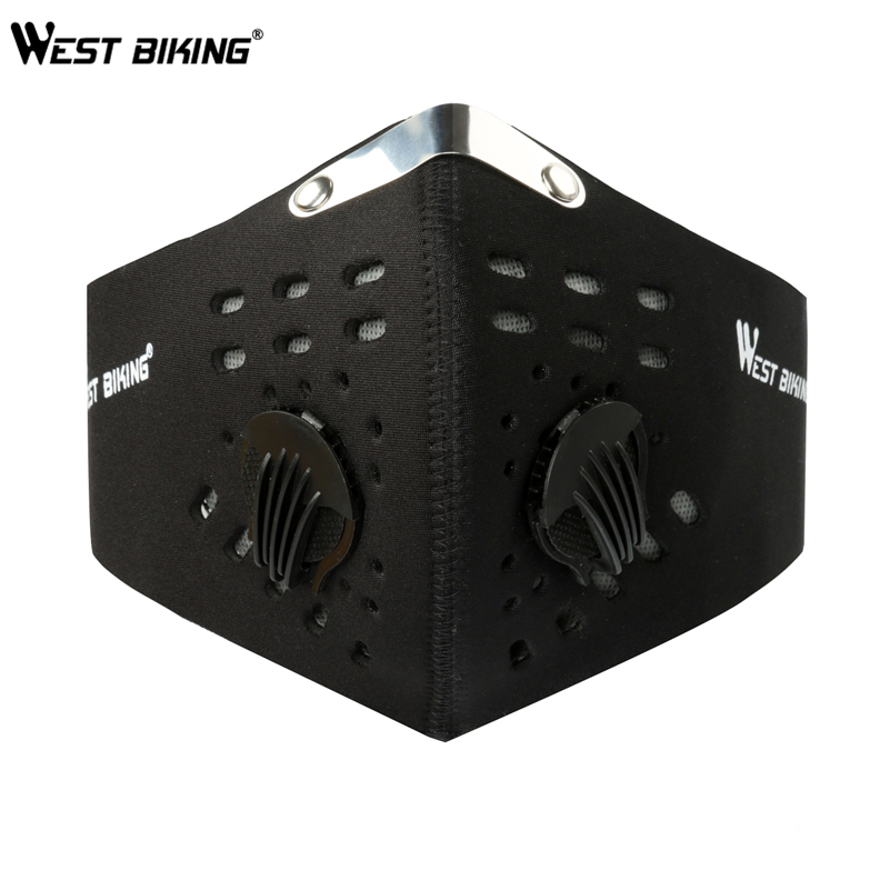 WEST BIKING Cycling Face Mask With Filter Half Face Carbon MTB Bike Training Mask Face Shield Anti Smog Bicicleta Cycling Mask