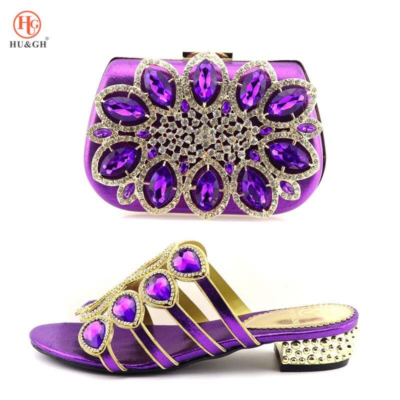 À Sacs Correspondre New Pour Gold Femmes Ensemble Or Nigérian Et argent Sac Italiennes Dames pourpre Chaussures Parti rouge Parures Africain 0Xx8rwXq