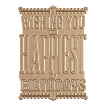 Wishing You Happiest Birthday Background Metal Hot Foil Plate for DIY Scrapbooking Letterpress Embossing Cards Making Crafts New