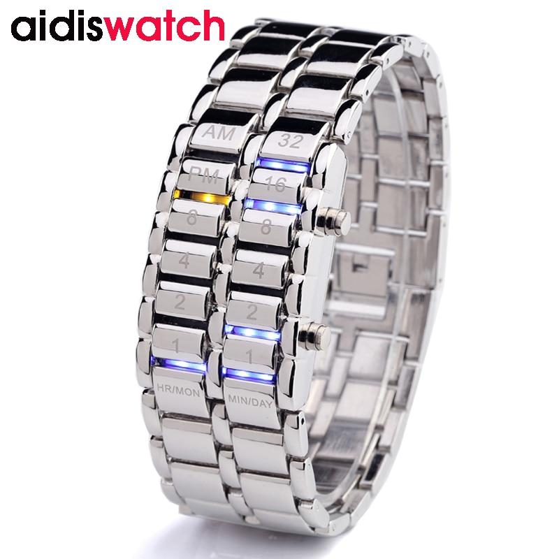 AIDIS Popular Brand Men Women Fashion Creative Watches Digital LED Display Water Shock Resistant Lover's WristWatches Clock Men