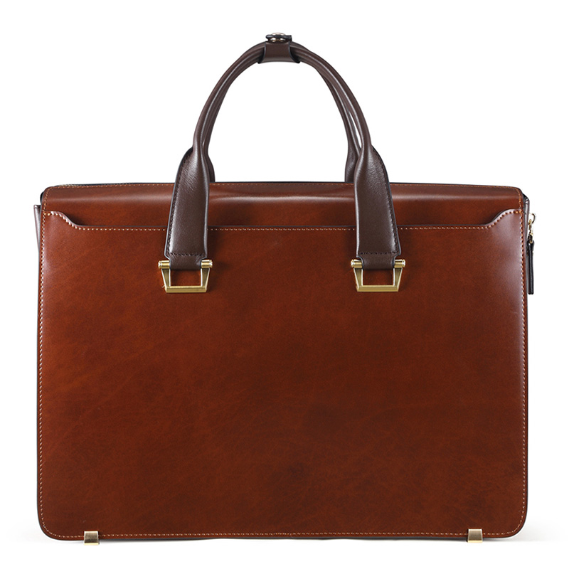 Moda famosa marca uomini d'affari borsa valigetta in pelle olio - Borse da lavoro - Fotografia 2
