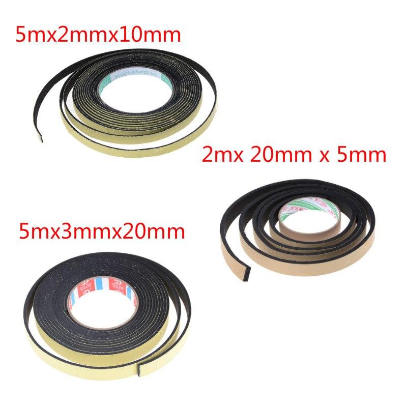 5m 2m 1cm 2cm Width Single Sided Adhesive Tape Weather Sticky Stripping Sponge Foam Rubber Strip Neoprene Tape Door Seal