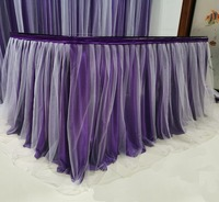 Tulle Table Skirt for Party Wedding Home Decoration Birthday Party / Baby Shower Chiffon Gauze Bridal Veil Table Skirting
