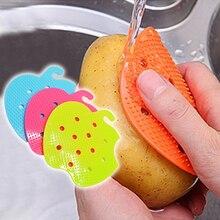 2 шт. кухонные инструменты многофункциональная фруктовая щетка для овощей легкая щетка для чистки картофельных кухонные домашние принадлежности 8A0905