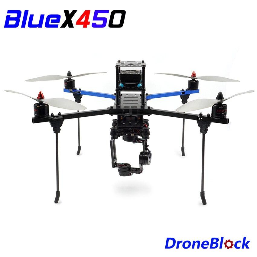 BlueX450 quadrirotor bricolage Drone KIT cadre en aluminium F450 Multicopter multi-rotor Drone de course QuadX pour RC FPV APM PixhawkBlueX450 quadrirotor bricolage Drone KIT cadre en aluminium F450 Multicopter multi-rotor Drone de course QuadX pour RC FPV APM Pixhawk