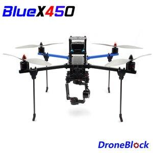 KIT de cuadricóptero BlueX450 para armar Dron, marco de aluminio F450, multirotor, Drone de carreras QuadX para RC FPV APM Pixhawk