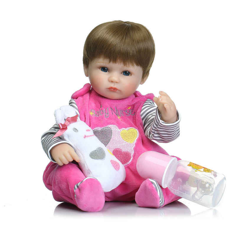 NPKCOLLECTION 40 см мягкий силиконовый винил для новорожденных, для девочек куклы bebes кукла трансфер до reborn bonecas мягкий Детский наряд для дня Рождения подарок девушки brinquedos