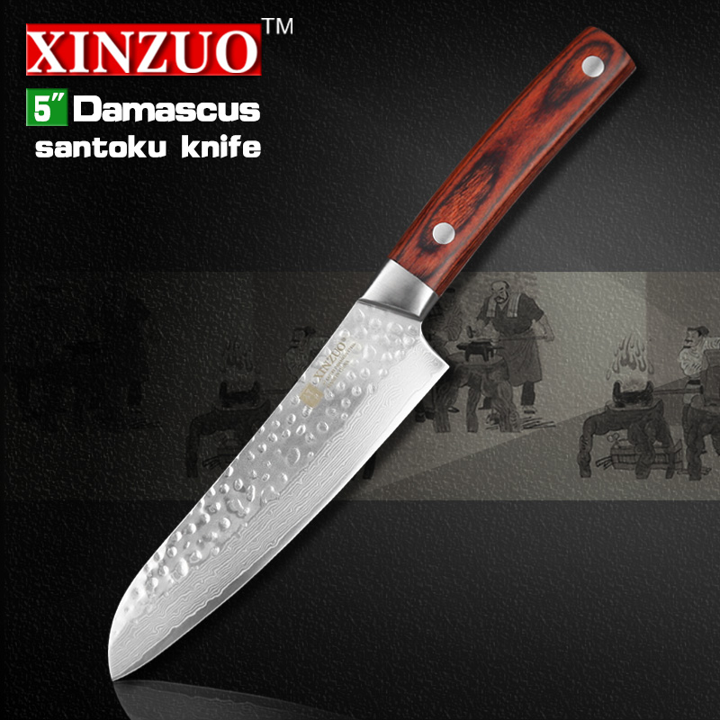2016 new XINZUO 5 inch japan chef font b knife b font 67 layers Japanese Damascus