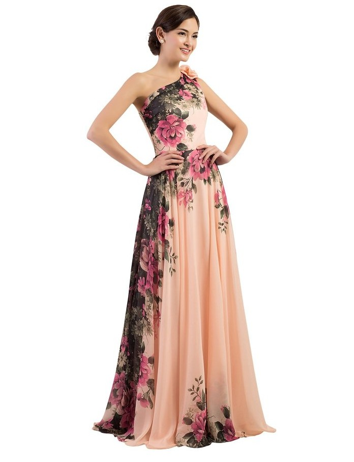 Hirigin <font><b>Women</b></font> <font><b>Dress</b></font> Bodycon Party Maxi <font><b>Dresses</b></font> Flower <font><b>Club</b></font> Flower <font><b>Sexy</b></font> Shoulderless Wedding Party Soft Silk Slim <font><b>Dresses</b></font> <font><b>2018</b></font> image