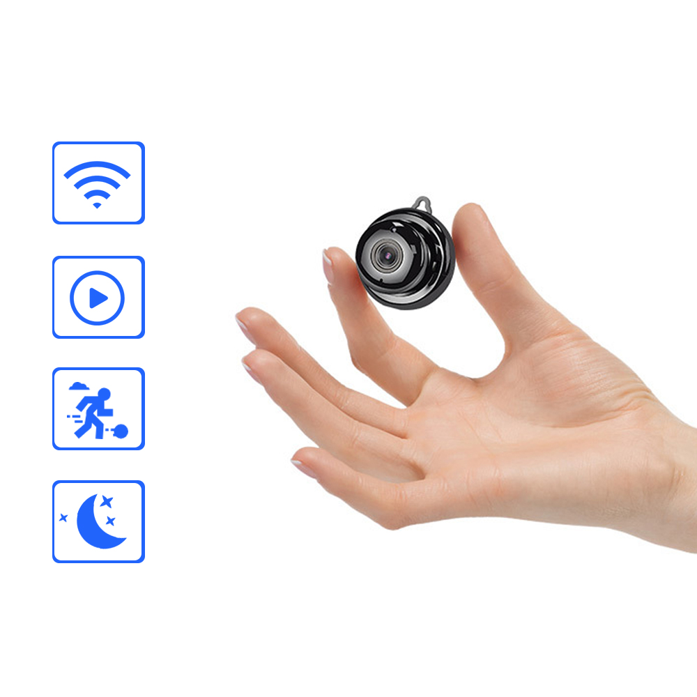 Wireless Mini WIFI 720P IP Camera Cloud Storage Infrared Night Vision Smart Home Security Baby Monitor Motion Detection SD Card