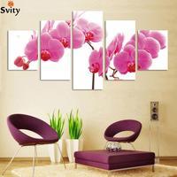 Moda 5 painel/lot HD Grande imagem pintura de parede pintura da lona Moderna flor Brindes H086 unframe arte adesivo de parede