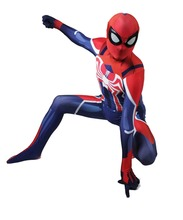 Unisex Game Spiderman PS4 Velocity Costume Spidey Cosplay Halloween Spider-man Costumes Free Shipping