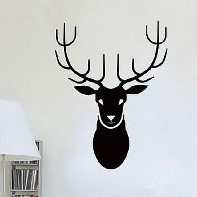 CaCar New Design Deer Head Wall Decals Abstract Animal Series - Vinyl wall decals abstract