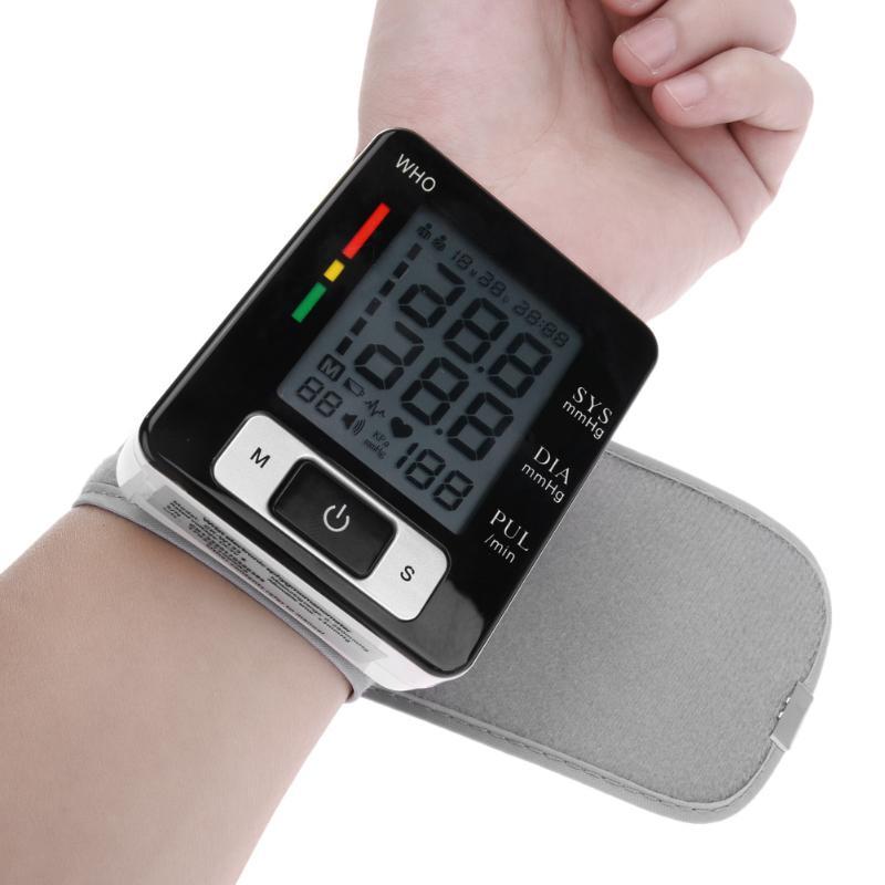 Auf Lager! Englisch Handgelenk Automatische Elektronische Blutdruckmessgerät Blutdruck Monitor Home Gesundheit Pflege Herz Schlagen Meter Maschine